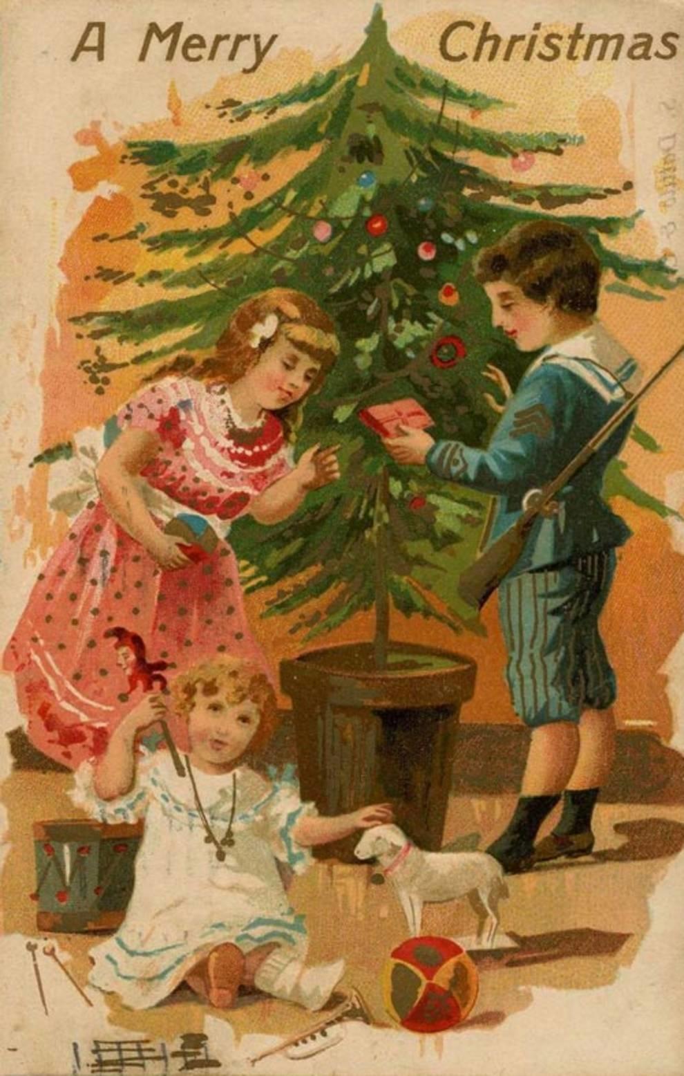 Открытки рождественские старинные английские, родился