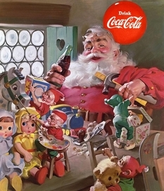 The image of Santa Claus was designed by order of Coca-Cola in early 1931