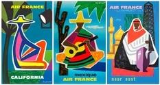Колекція вінтажних постерів Air France, яку створювали найкращі французькі ілюстратори та художники