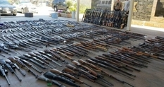 Rifles, rifles, pistols: a find of American police, with which you can make an armed coup