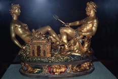 Золота настільна статуетка була знайдена в свинцевій коробці в лісі