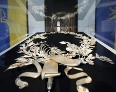 У київському музеї показали срібний вінок Січових стрільців
