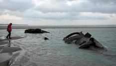 На побережье Франции проступили обломки подводной лодки времен Первой мировой войны