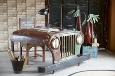 A table with the character of the body parts Jeep