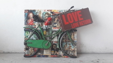 Bicycle skill of the Italian artist