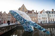Plastic whale as a response to ocean pollution