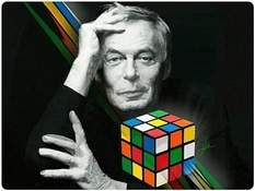 Erno Rubik and his cube