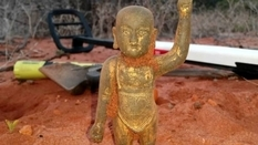 На місці зйомок документального фільму знайшли релігійний ідол епохи династії Мін