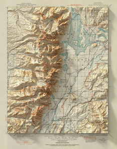 Digital shadows on old maps: a new look at famous landscapes