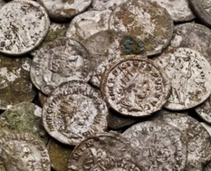 30,000 ancient Roman coins from the English city of Bath