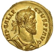British search engine found a gold coin III century