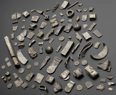 Bracelets, brooches and coins - a treasure found by archaeologists from Scotland
