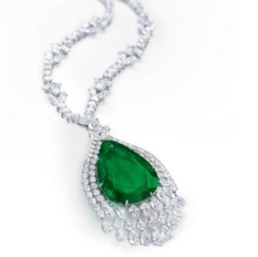 Christie's auctioned an emerald of 75.61 carats