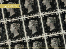 Why is the Black Penny postage stamp considered a rarity?