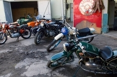 The collection of Soviet motorcycles doctor from Moldova