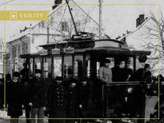 The first tram in Ukraine