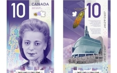 10 Canadian dollars recognized the most beautiful banknote in 2018