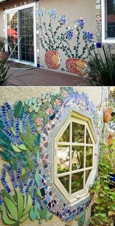 Мозаики из остатков керамики и плитки как идеи для украшения