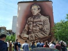 В Киеве появился мурал с изображением Симона Петлюры