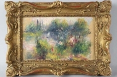 How did the Renoir painting come to the flea market?