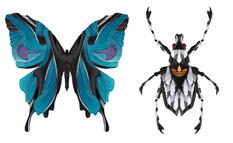 Страхітливі павуки і привабливі метелики - фантазійні колажі з частин спортивного взуття