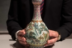 18th century Chinese vase from old shoe box