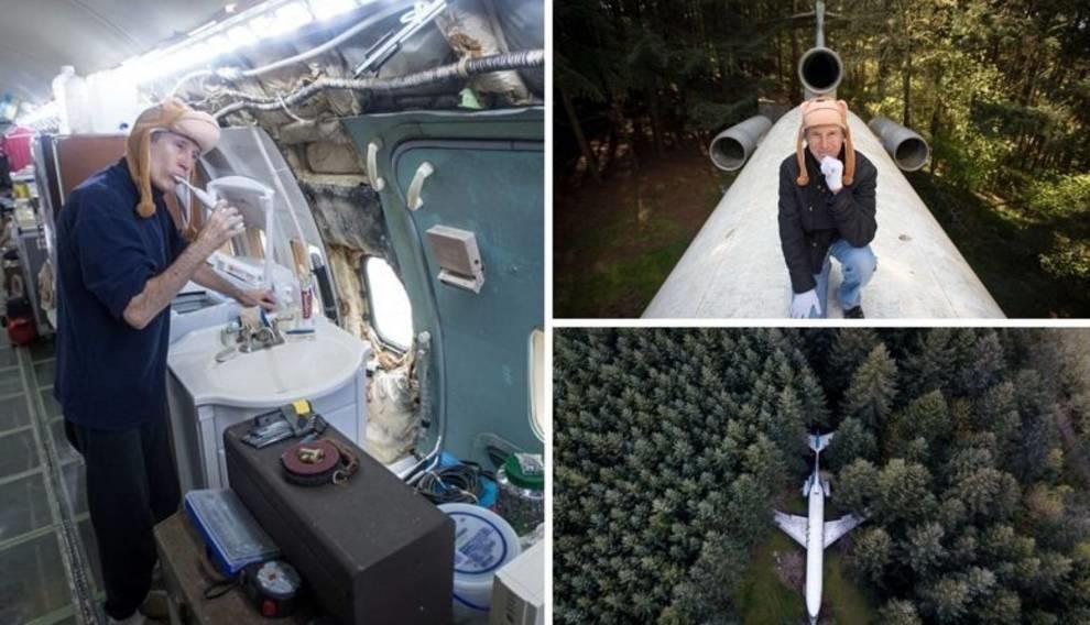 Американский инженер построил дом из старого пассажирского самолета