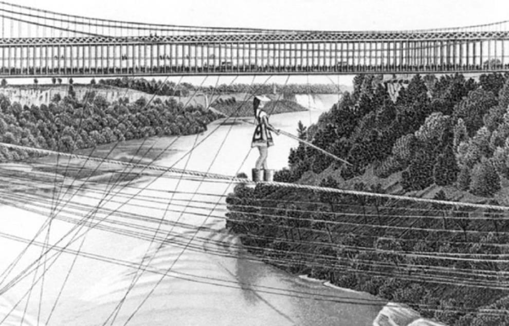 Мария Спелтерина: пройти по канату через Ниагарский водопад с завязанными глазами