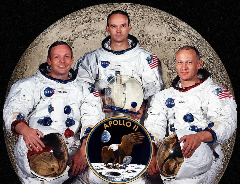 Армстронг, Коллинз и Олдрин: