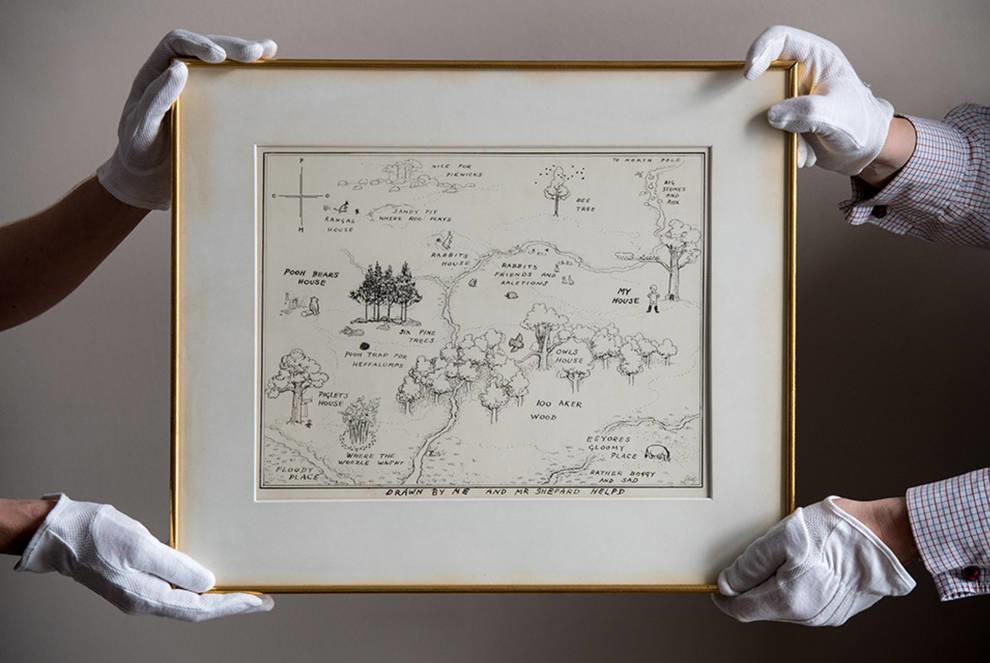 Винни-Пух установил рекорд: иллюстрация к сказке была продана в Лондоне