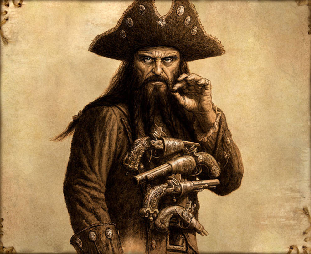 Bang the did blackbeard have wives young