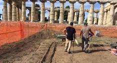 В храме около Пестума нашли часть архаической скульптуры