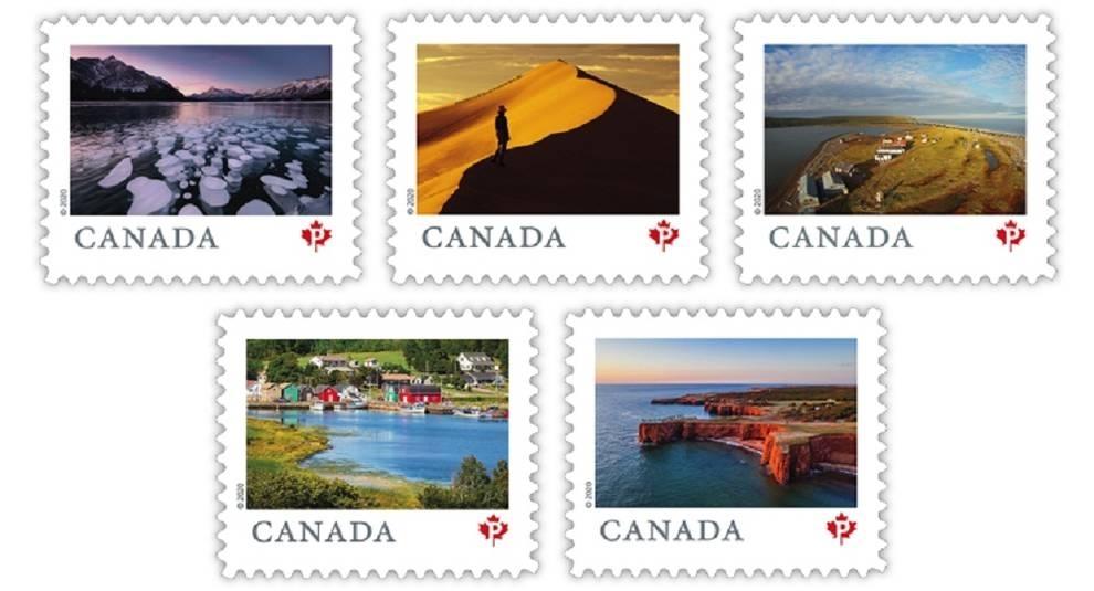 Канада выпустила девять почтовых марок с пейзажами