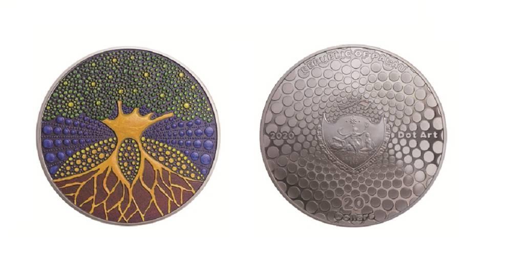 Республика Палау выпустила монету в стиле пуантилизма