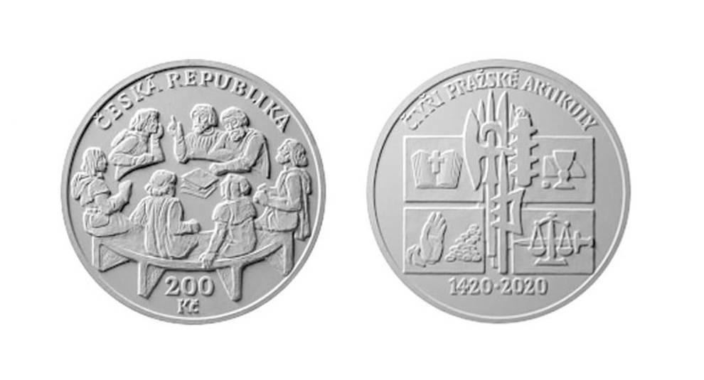 «Четыре пражские статьи»: в Чехии монету посвятили историческому событию
