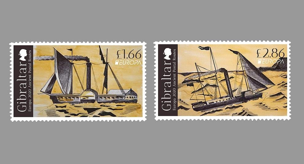 Vintage postal routes: Gibraltar has added two stamps to the series