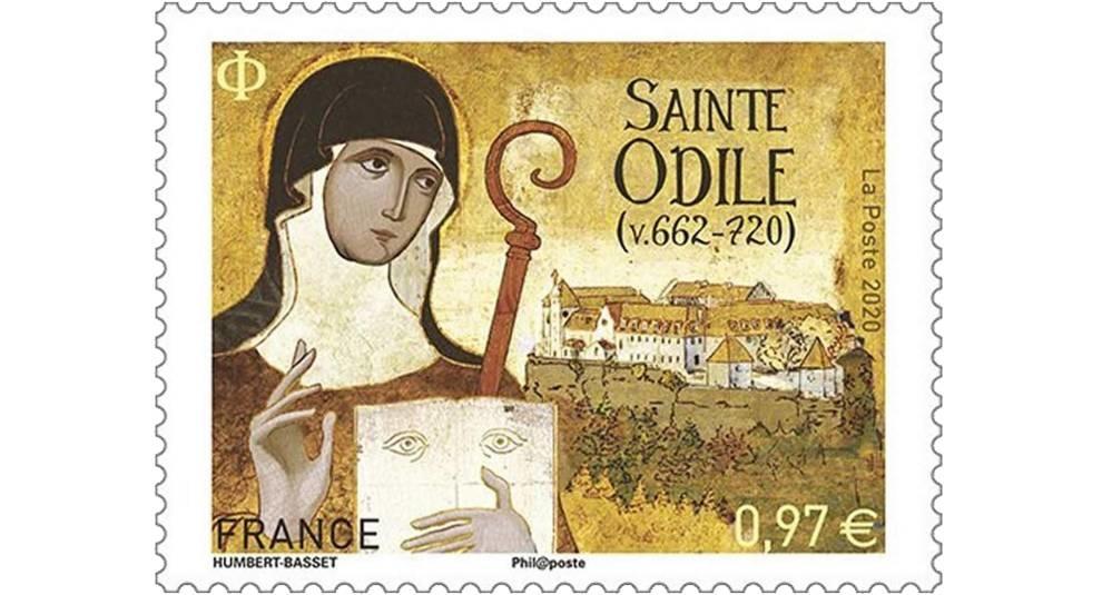 Вышел тираж марок, посвященных Святой Одилии