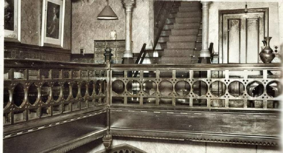 Pictures of Moorfield House interiors in 1947