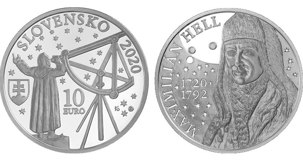 Slovakia issued a coin in honor of an astronomer of the XVIII century