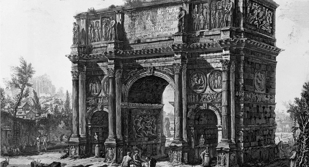 История древних сооружений: Триумфальная арка Константина (часть II)