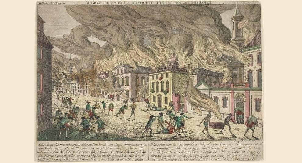 Нью-Йорк в огне: разрушительный пожар 1776 года