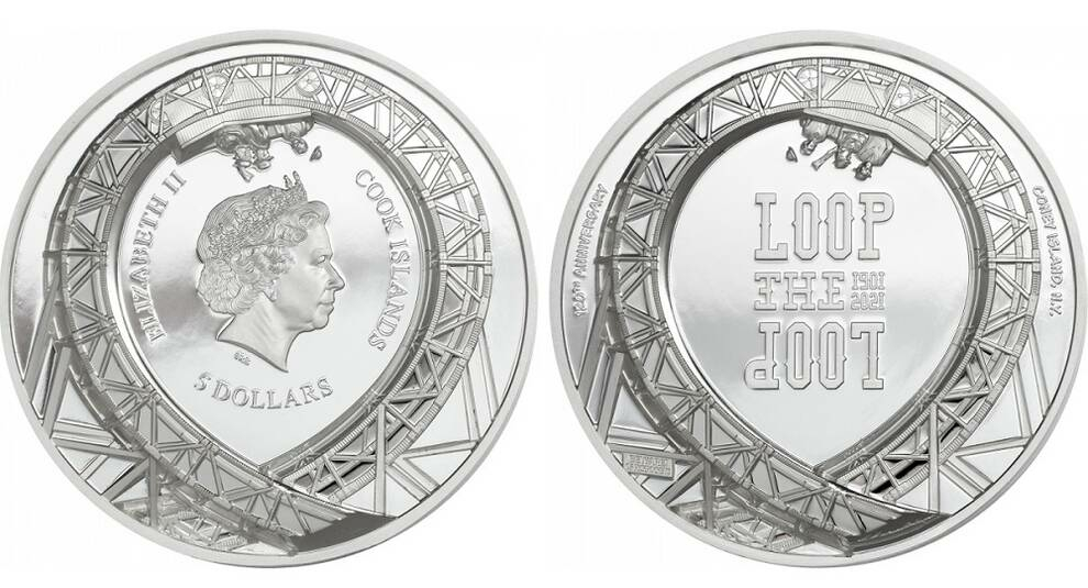 Американские горки: Острова Кука посвятили новую монету аттракциону