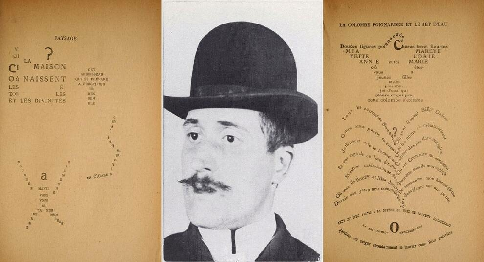 Życie i kaligramy Guillaume Apollinaire'a