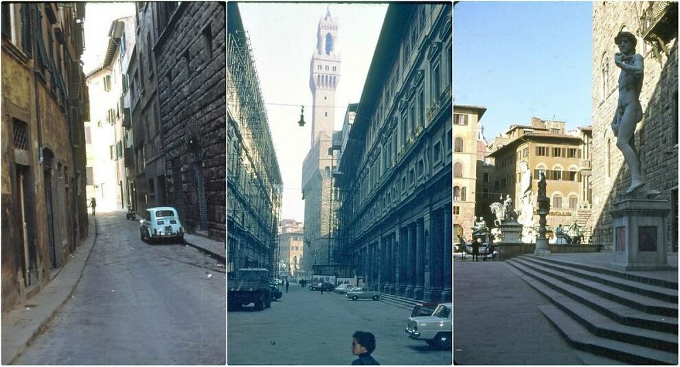 The beauty of Florence in the photo of the 60s