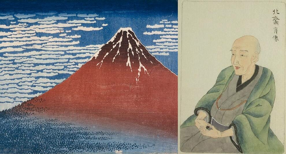 The work of Japanese printmaker Hokusai