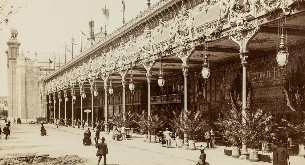 Photo of the world's fair in Paris in 1889