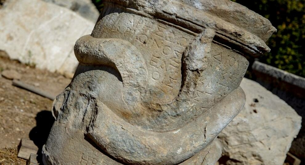 An altar with the image of a snake was discovered in Turkey