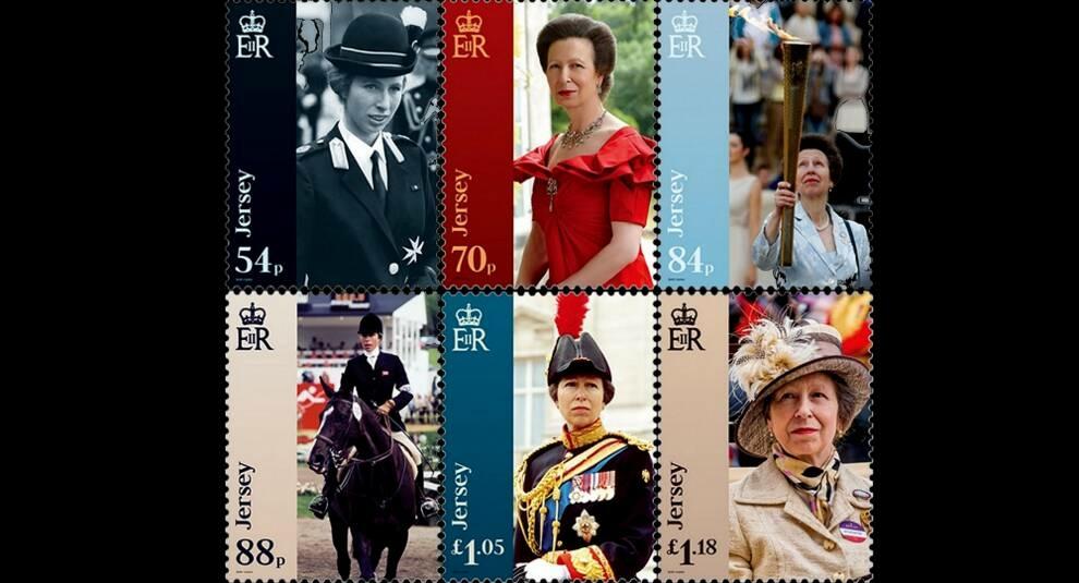 На острове Джерси выпущена марка в честь 70-летия принцессы Анны