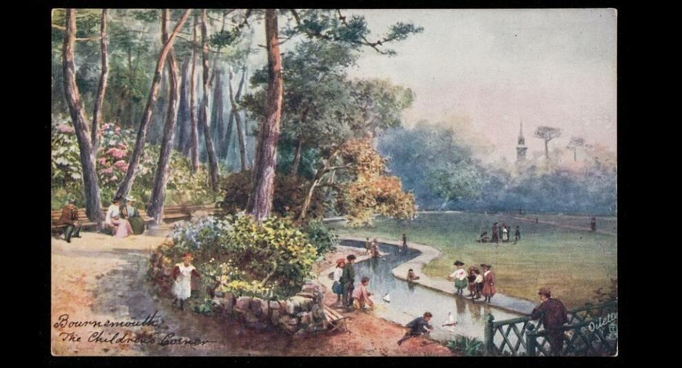 Открытки с изображением парков из коллекции Ньюберри