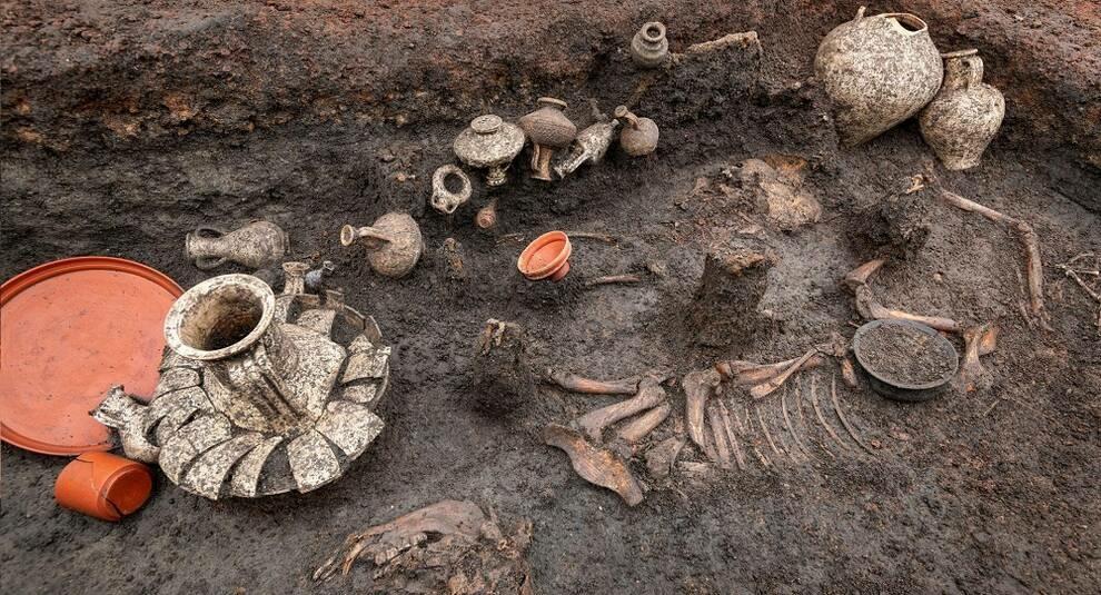 Французские археологи нашли могилу ребенка, похороненного 2 тыс. лет назад